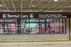 Airport Rental Car Area Stock Images