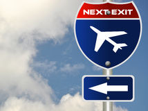Airport road sign Royalty Free Stock Photos