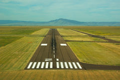 Airport Runway. Runway at a small Wyoming airport Stock Image