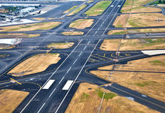 Airport runway. View from above Stock Images