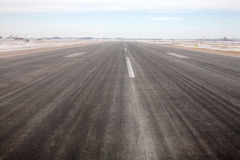 Airport runway. An Airport runway during winter Stock Photos