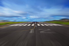 Airport Runway. With motion concept Stock Photo