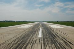 Airport Runway. In Zagreb (Croatia Stock Photo