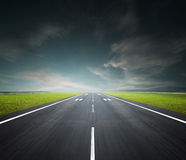 Airport runway Stock Images