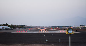 Airport runway Royalty Free Stock Images