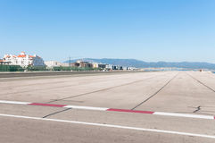 Airport runway in Gibraltar Royalty Free Stock Photos