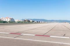 Airport runway in Gibraltar Royalty Free Stock Photos