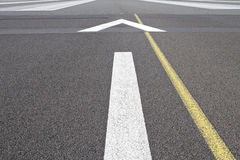 Airport runway guidelines Royalty Free Stock Photography