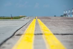 Airport Runway in Kyiv Stock Photography