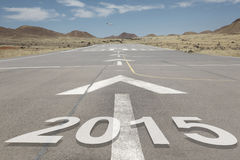 Airport runway mountains 2015 Stock Photo