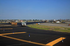 Airport Runway Repairs Stock Photo