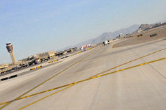 Airport Runway and Tower Royalty Free Stock Photography