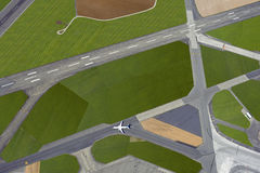 Airport with the runways Royalty Free Stock Photos