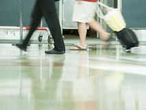 Airport rush Stock Images