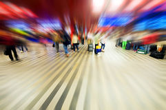Airport rush abstract Stock Photography