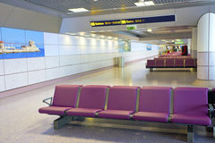 Airport's departure lounge. Stock Photography
