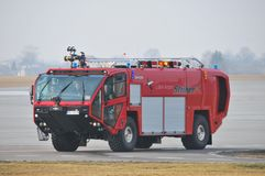 Airport's fire-truck Stock Image