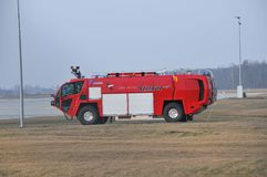 Airport's fire-truck Royalty Free Stock Photography