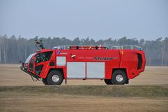 Airport's fire-truck Stock Images