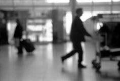 Airport scene. Scene at the departure hall of the airport stock image