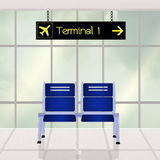 Airport scene. Cute illustration of airport scene Stock Image
