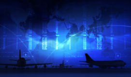 Airport. Schedule in the international airport Royalty Free Stock Image