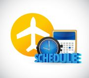 Airport schedule time concept Stock Photography