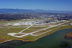 Airport on the Sea Island. And Metro Vancouver Royalty Free Stock Images