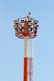 Airport searchlight tower Stock Images