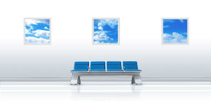 Airport Seat Blue Stock Image