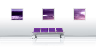 Airport Seat Purple Royalty Free Stock Images