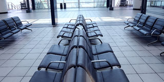 Airport seating Royalty Free Stock Photos