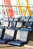 Airport seats. Empty seats at the airport in waiting lounge Royalty Free Stock Photos