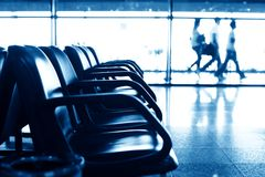 Airport seats Stock Images
