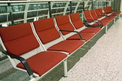 Airport Seats Royalty Free Stock Photography