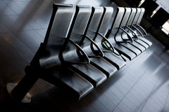 Airport seats Royalty Free Stock Photo