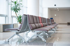 Airport seats at the airport Royalty Free Stock Image
