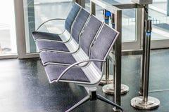 Airport seats Stock Photo