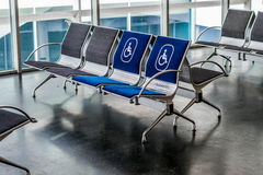 Airport seats Royalty Free Stock Image