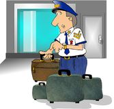 Airport security stock photo