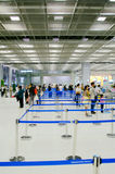 Airport security. An airport security area entrance,Bangkok, Thailand Royalty Free Stock Image
