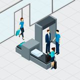 Airport Security Check Royalty Free Stock Photos
