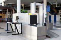Airport security check point with metal detector. And X ray scaner royalty free stock photography