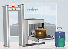 Airport security scanner Royalty Free Stock Photography