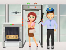 Airport security scanner. Illustration of Airport security scanner Royalty Free Stock Photo