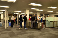 Airport security station Royalty Free Stock Images