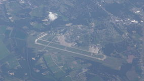 Airport seen from high up stock video