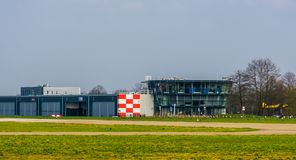 The Airport seppe Breda main building, Bosschenhoofd, The Netherlands, March 30, 2019. Airport seppe Breda main building, Bosschenhoofd, The Netherlands, March royalty free stock photos