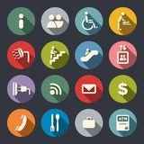 Airport services flat icons Stock Photo