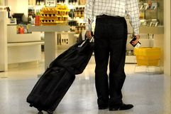 Airport Shopper royalty free stock photo